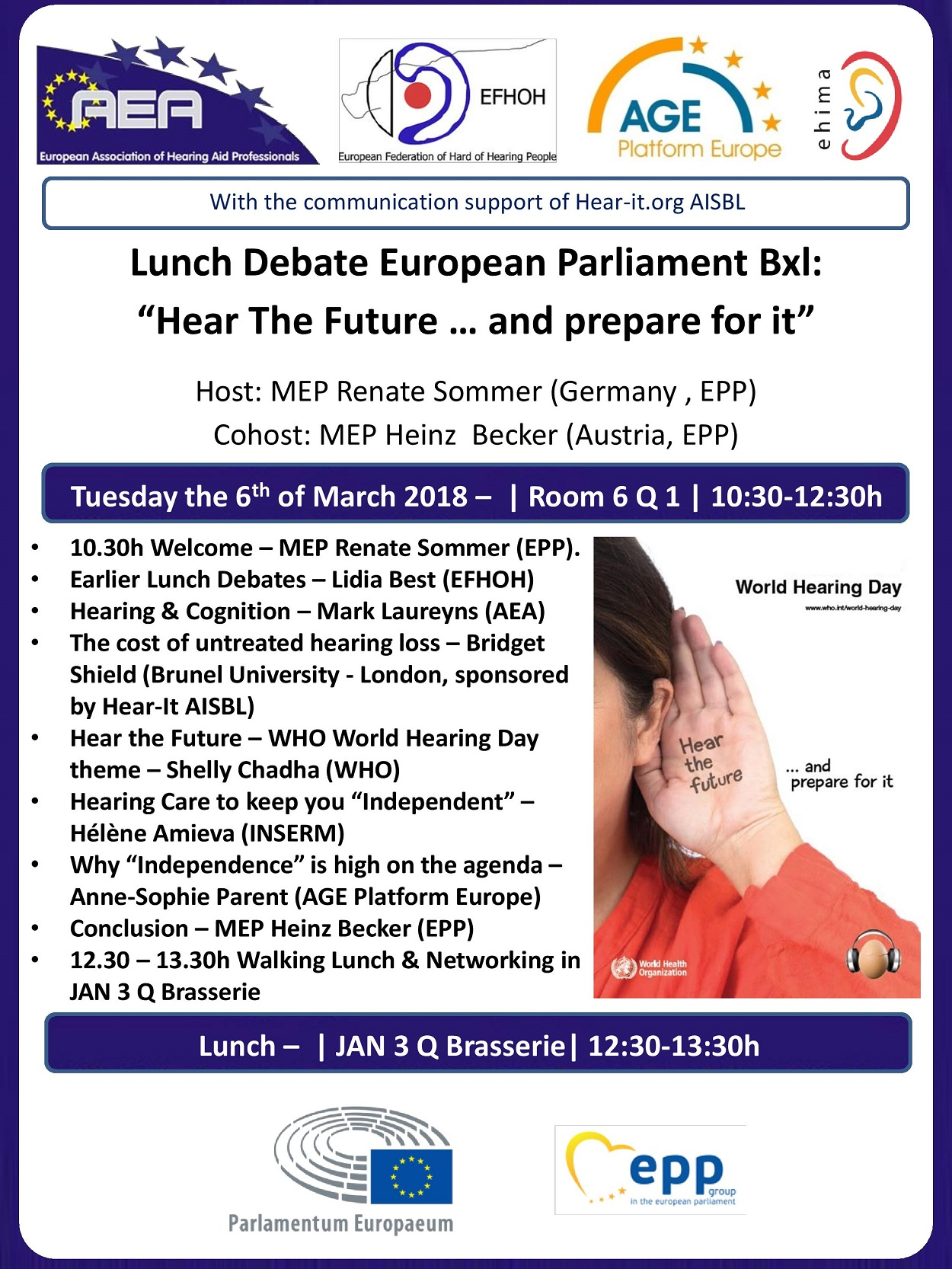 Lunch Debate European Parliament 2018 [Update]