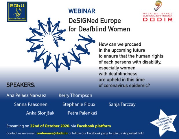 EDbU Webinar | DeSIGNed Europe for Deafblind Women